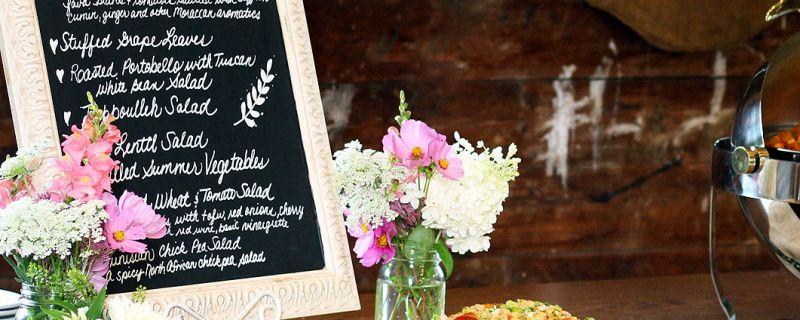 Un menú de boda vegetariano