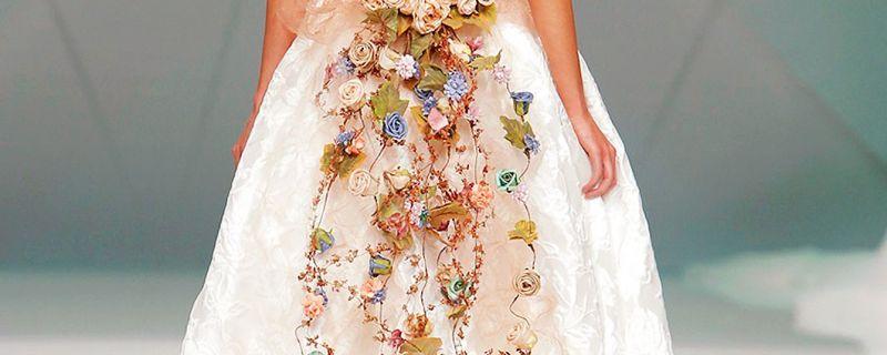 Vestidos de novia con estampados