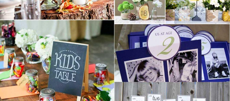 Ideas originales para numerar mesas de boda